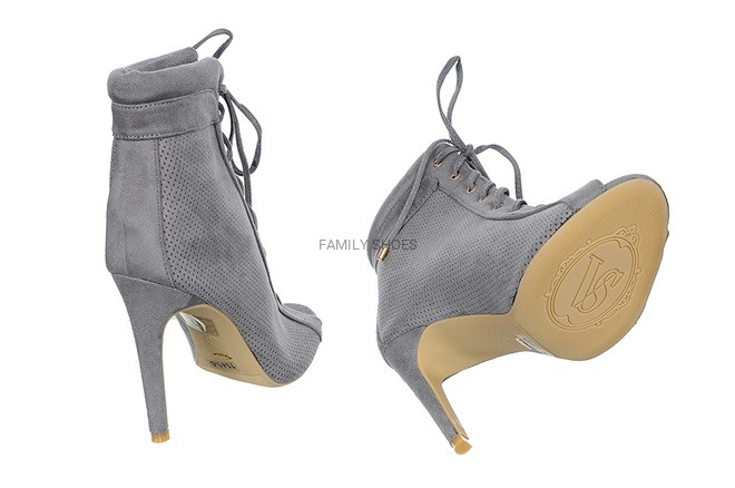1037787f546c2 Ażurowe Shoes Szare Damskie Family Botki p77RwCq