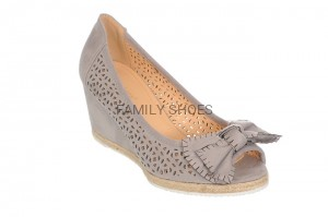 ESPADRYLE OPEN TOE DAMSKIE KOTURN