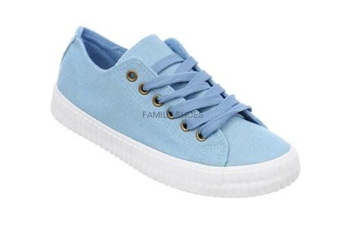 Trampki tenisówki damskie niebieskie